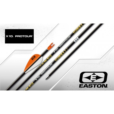 Easton X10 Pro Tour Arrows with EP08 Points & Easton Pin Nocks (Set of 12) : ES15Carbon ArrowsES15 3FL